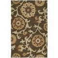 Zoe Brown Suzani Hand-tufted Wool Rug (5' x 7'9)