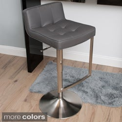 Looper Tufted Low-back Adjustable-height Swivel Stool
