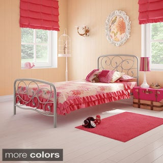 Amisco Serpentine Twin-size Headboard and Footboard