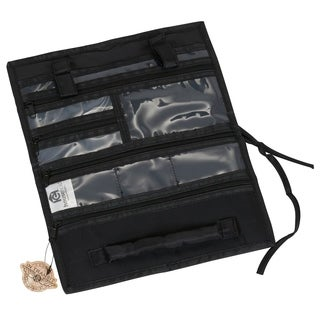 Black Fold-up Multi-pocket Travel Jewelry Organizer