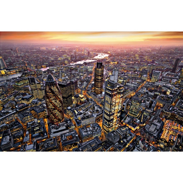 Ideal Decor 'London Aerial View' Wall Mural