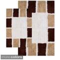 Mosaic Tiles Cotton 2-piece Bath Rug Set
