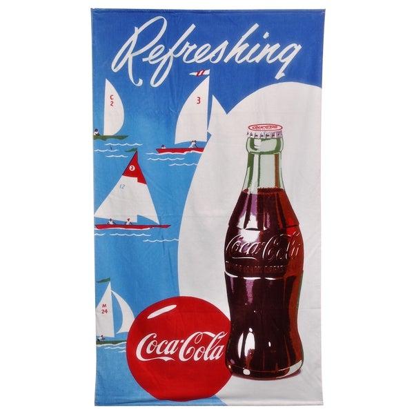 Coca-Cola Sailboat Beach Towel