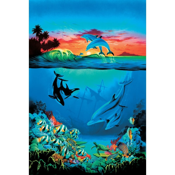 brewster 39 under the sea 39 wall mural 15642874 overstock. Black Bedroom Furniture Sets. Home Design Ideas