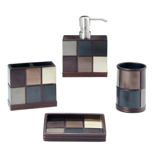 Oxford Bath Accessory 4-piece Set