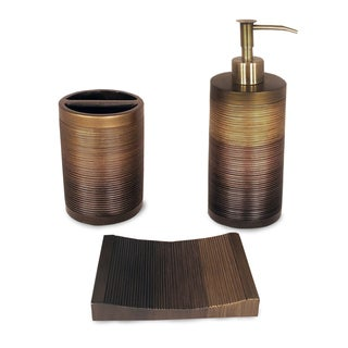 Brown bathroom collections shopping the for Brown bathroom accessories sets