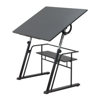 Studio Designs Zenith Black Drafting Table