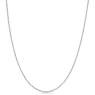 Fremada 10k White Gold 1mm Cable Chain (18-inch or 20-inch)