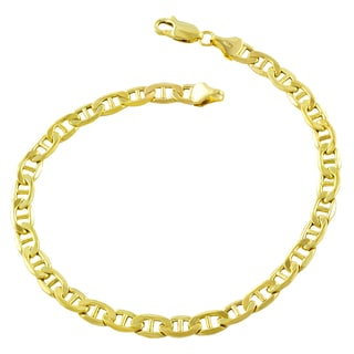 Fremada 10k Yellow Gold 5mm Mariner Link Bracelet (8.5-inches)