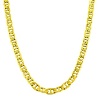 Fremada 10k Yellow Gold 5mm Mariner Link Necklace (20-inch or 24-inch)