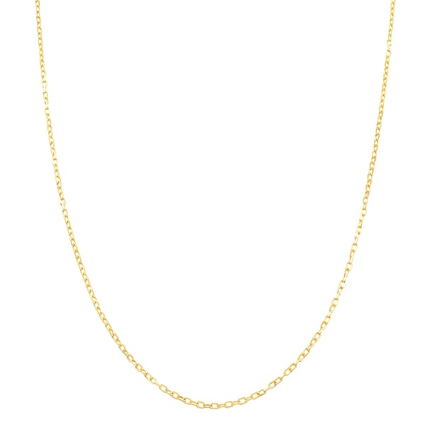 Fremada 14k Yellow Gold 0.9mm Adjustable Long Cable Chain (20-inch)