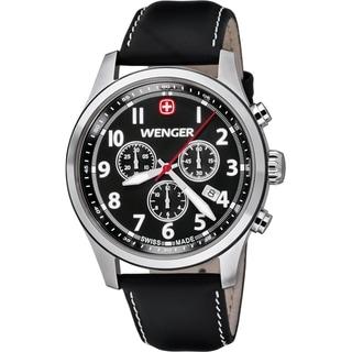 Wenger Men's TerraGraph Chrono Black Dial Black Leather Watch  0543.101