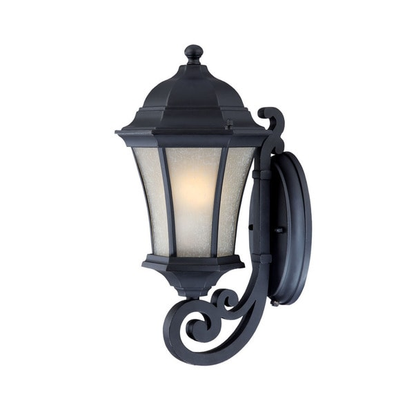 Waverly Energy Star Collection Wall-mount 1-light Outdoor Matte-black Aluminium Light Fixture