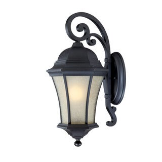 Waverly Energy Star Collection Wall-mount 1-light Outdoor Matte-black Light Fixture with Scavo Shade