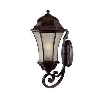 Waverly Energy Star Collection Wall-mount 1-light Outdoor Black-coral Scrollwork Light Fixture