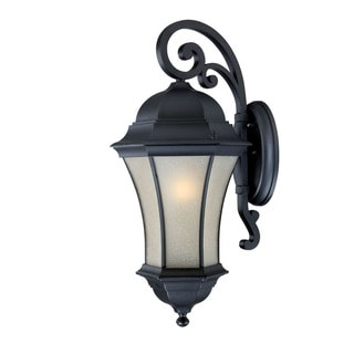 Waverly Energy Star Collection Traditional Wall-mount 1-light Outdoor Matte-black Light Fixture