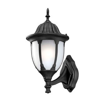 Suffolk Energy Star Collection Wall-mount 1-light Outdoor Matte Black Light Fixture with Line Switch