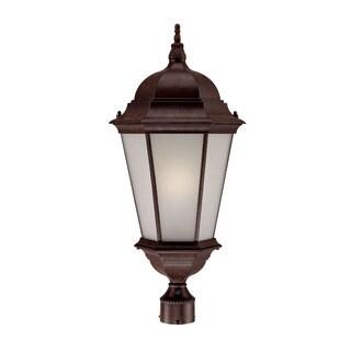 Richmond Energy Star Collection Post-mount 1-light Outdoor Burled Walnut Light Fixture