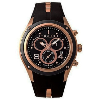 Mulco Men's Bluemarine Collection Black Chronograph Watch