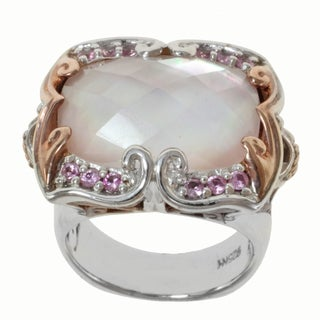Michael Valitutti Two-tone Pink Ocean Quartz and Pink Sapphire Ring