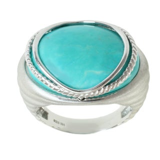 Michael Valitutti Sterling Silver Howlite Ring