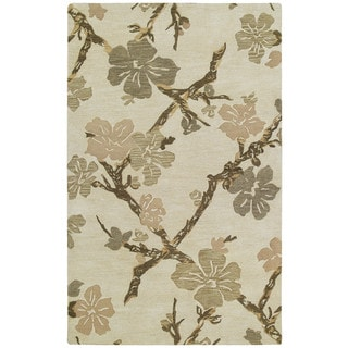 Euphoria Dogwood Sand Tufted Wool Rug (9'6 x 13'0)