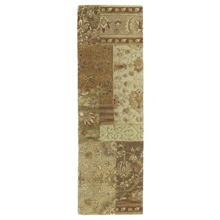 Euphoria Patchwork Multi Tufted Wool Rug (2'3 x 7'6)