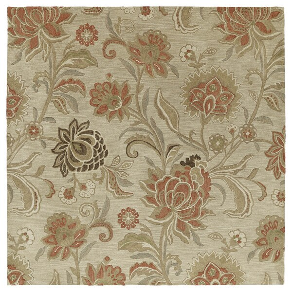Euphoria Sand Tufted Wool Rug (8'0 x 8'0)