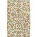 Zoe Scroll Oatmeal Hand Tufted Wool Rug (2'0 x 3'0)
