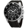 Akribos XXIV Men's Swiss Quartz Embossed Dial Silicone Strap Watch