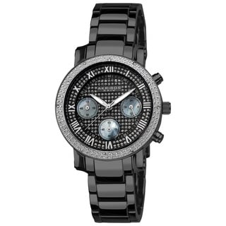 Akribos XXIV Women's Stainless Steel Diamond Chronograph Bracelet Watch