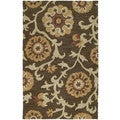 Zoe Brown Suzani Hand Tufted Wool Rug (3'0 x 5'0)