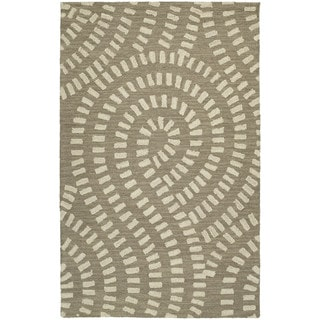 Zoe Light Brown Hand Tufted Wool Rug (2'0 x 3'0)