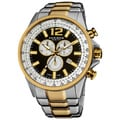 Akribos XXIV Men's Two-tone Swiss Quartz Chronograph Tachymeter Stainless Steel Watch