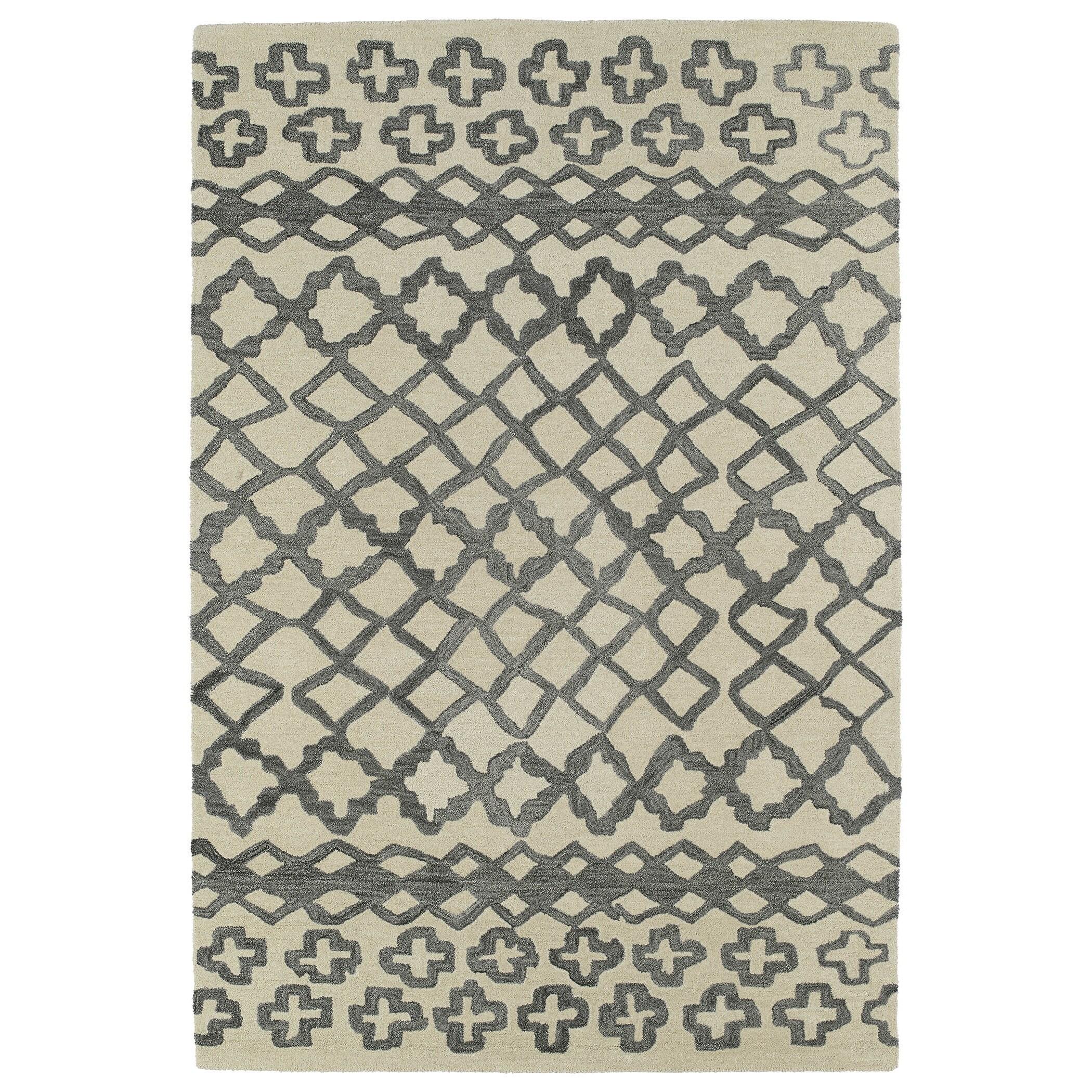 Hand-tufted Utopia Prints Grey Wool Rug (2' x 3') at Sears.com