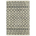 Hand-tufted Utopia Prints Grey Wool Rug (4' x 6')