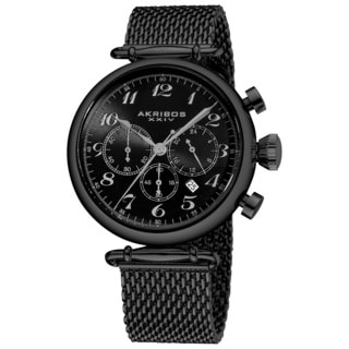 Akribos XXIV Men's Chronograph Stainless Steel Mesh Bracelet Watch