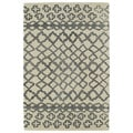 Hand-tufted Utopia Prints Grey Wool Rug (8' x 10')