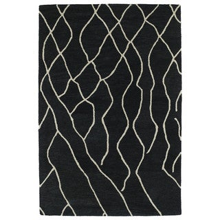 Hand-tufted Utopia Peaks Charcoal Wool Rug (4' x 6')
