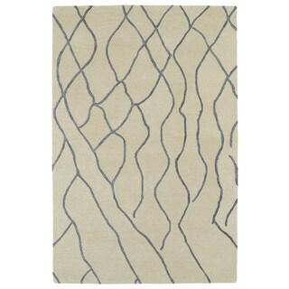 Hand-tufted Utopia Peaks Ivory Wool Rug (2' x 3')