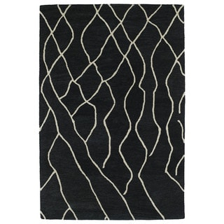 Hand-tufted Utopia Peaks Charcoal Wool Rug (9'6 x 13'6)