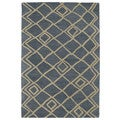 Hand-tufted Utopia Lucca Blue Wool Rug (4' x 6')