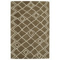 Hand-tufted Utopia Lucca Brown Wool Rug (5' x 8')