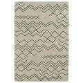 Hand-tufted Utopia Cascade Emerald Wool Rug (2' x 3')