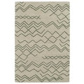 Hand-tufted Utopia Cascade Emerald Wool Rug (5' x 8')