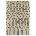 Hand-tufted Utopia Fringe Brown Wool Rug (8' x 11')