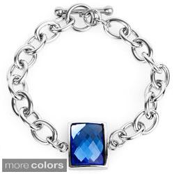 ELYA Stainless Steel Rectangular-cut Bracelet