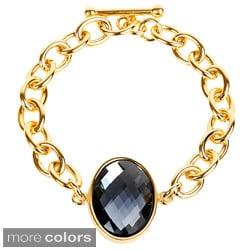 ELYA Goldplated Stainless Steel Oval-cut Bracelet