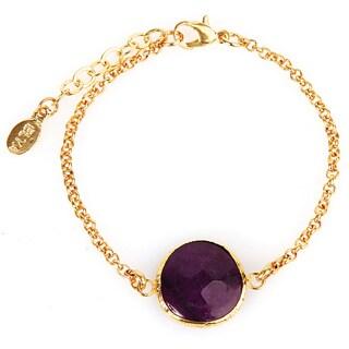 ELYA Amethyst Goldplated Bracelet