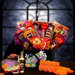 Halloween Tricks/ Treats Boo Box Gift Basket